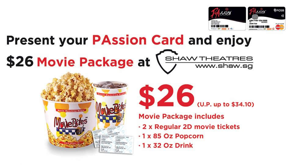 d885c51bc91 PAssion Card: Exclusive Shaw Theatres Movie Package from 1 Jul – 30 Sep 2016