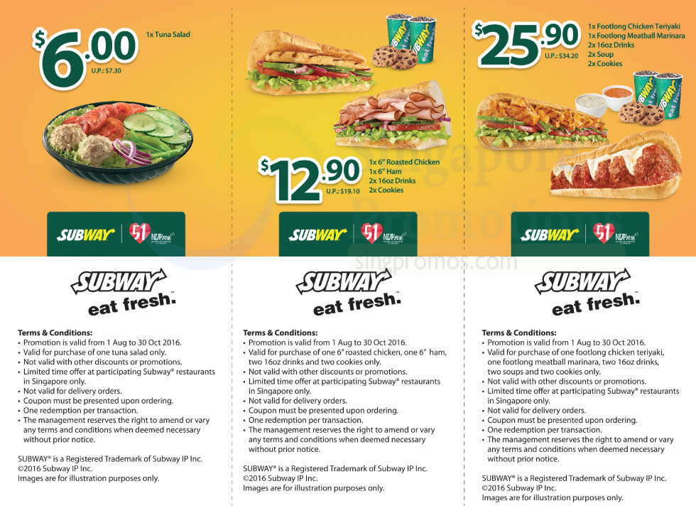 Print out offers for Subway. BeFrugal updates printable offers for Subway every day. Print the offers below and take to a participating Subway to save.