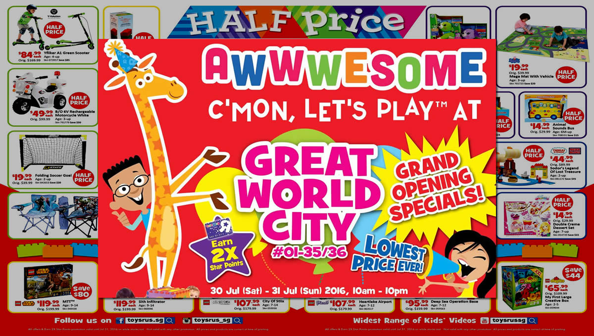 """Toys For Tots Letter Head : Toys """"r us over half price deals more at great"""