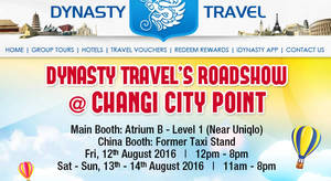 e62baa43fe73a6 Dynasty Travel  Travel Fair at Changi City Point from 12 – 14 Aug 2016  UPDATED 12 Aug 2016