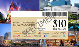 Featured image for (Over 3100 Sold) Far East Organization Malls: 10% Off Cash Vouchers valid at 13 Malls from 4 Aug 2016