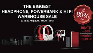 Featured image for Hwee Seng: Headphone, Powerbank & Audio Warehouse Sale from 27 – 29 Aug 2016