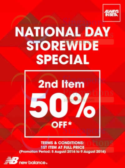 meilleur authentique 23d71 4a680 New Balance: 50% Off 2nd Item National Day Promotion from 5 ...