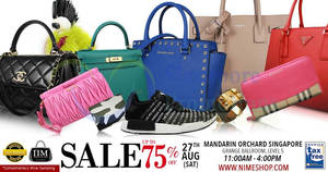 Featured image for Nimeshop: Branded Handbags Sale at Mandarin Orchard on 27 Aug 2016