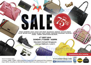 Featured image for Nimeshop: Branded Handbags Sale at Mandarin Orchard on 4 Sep 2016