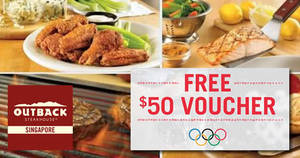Featured image for Outback Steakhouse: $50 Off E-Voucher Coupon Deal from 16 – 19 Aug 2016