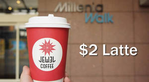 Featured image for Jewel Coffee: $2 Lattes at Millenia Walk from 19 – 23 Sep 2016