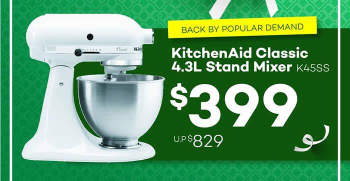 Mayer 399 U P 829 Kitchenaid Classic 4 3l Stand Mixer Promo From 5 Sep 2016