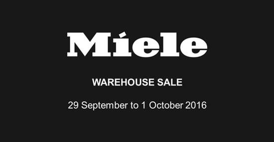 Miele Warehouse Sale Feat 29 Sep 2016