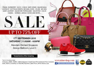 Featured image for Nimeshop: Branded Handbags Sale at Mandarin Orchard on 17 Sep 2016
