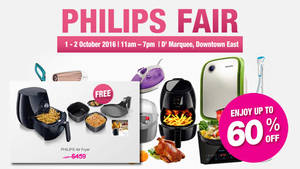 Featured image for Philips Fair w/ Up to 60% Off for NTUC Members from 1 – 2 Oct 2016