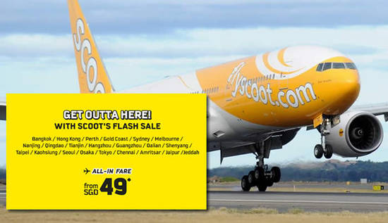 Scoot Flash Sale 8 Sep 2016