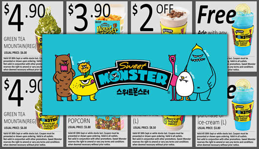 Sweet Monster Coupon Feat 22 Sep 2016