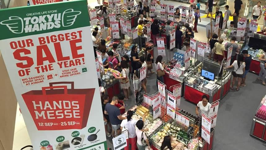 TOKYU HANDS: Biggest Sale of the Year from 12 – 25 Sep 2016
