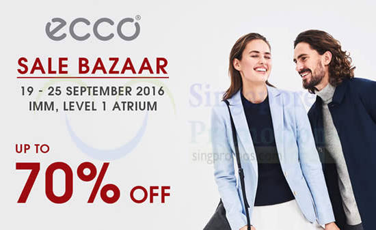 Featured image for ecco: Sale Bazaar w/ Up to 70% off at IMM from 19 - 25 Sep 2016