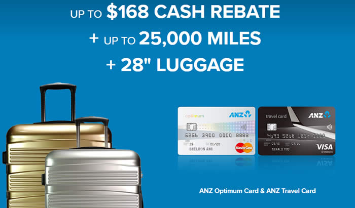 Anz Apply For Optimum World Card Amp Get 28 Luggage Up