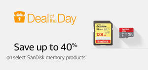 Featured image for Amazon.com: 24hr Deal – Up to 40% Off SanDisk Memory Products from 17 – 18 Oct 2016