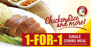 Featured image for Chicken Rice Shop offers 1-for-1 single combo meal at Causeway Point & OneKM on 10 Jun 2017