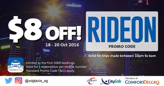 Comfort Taxis 18 Oct 2016