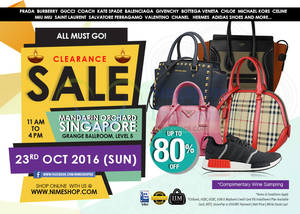 Featured image for Nimeshop: Branded Handbags Sale w/ Up to 80% Off at Mandarin Orchard on 23 Oct 2016