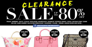 Featured image for Nimeshop: Branded Handbags Sale w/ Up to 80% Off at Mandarin Orchard on 6 Nov 2016