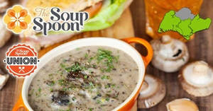 Featured image for Save 30% off at the The Soup Spoon with this cash voucher deal redeemable at 26 outlets from 31 Jan 2017