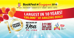 Featured image for BookFest books & stationery fair at Suntec Singapore from 2 – 11 Dec 2016