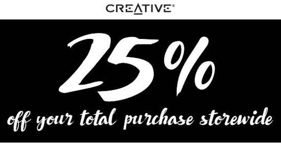 Creative Store Feat 11 Nov 2016