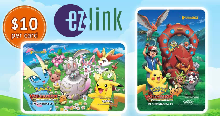 EZ-Link releases new collectible Pokemon ezlink cards from 16 Nov 2016
