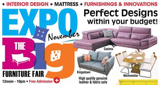 Expo BIG Furniture Feat 4 Nov 2016