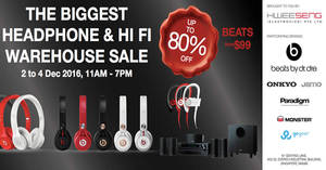 Featured image for Hwee Seng's warehouse sale offers up to 80% off audio brands from 2 – 4 Dec 2016