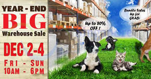 Featured image for Pets' Station Warehouse Sale w/ Up to 80% Off from 2 – 4 Dec 2016
