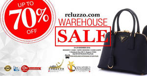Featured image for Reluzzo warehouse sale offers up to 70% off luxury brands from 24 – 29 Nov 2016