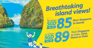 Featured image for Fly to Philippines fr $85 all-in with Cebu Pacific Air promo fares. Book from 31 Dec 2016 – 3 Jan 2017
