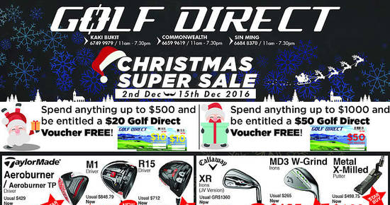 Golf Direct feat 1 Dec 2016
