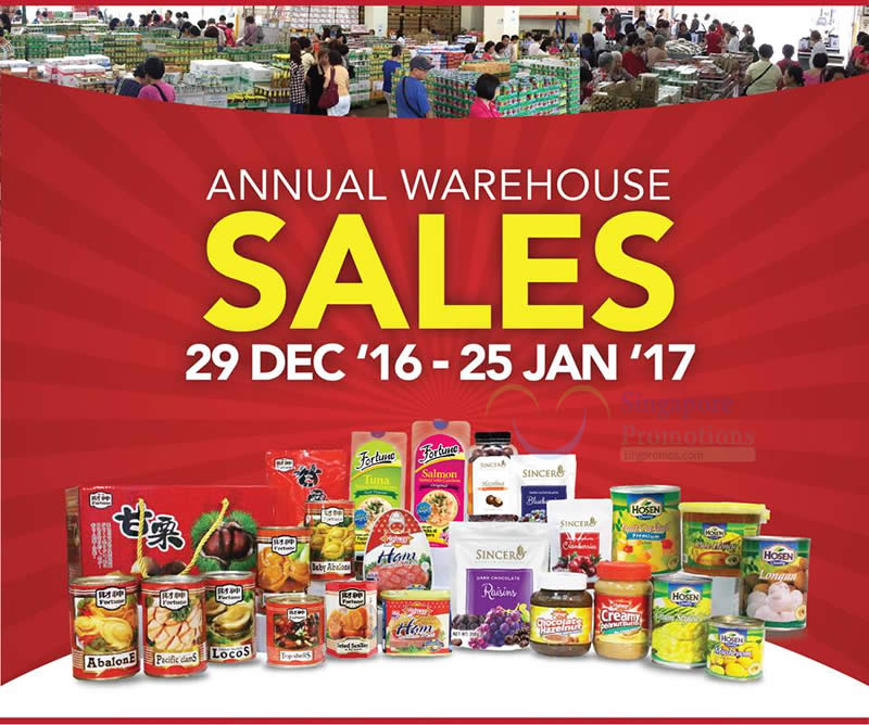 Hosen Group annual warehouse sale returns from 29 Dec 2016
