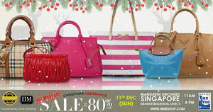 Featured image for Nimeshop branded handbags sale offers up to 80% off at Mandarin Orchard on 11 Dec 2016