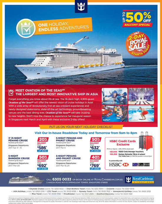Royal Caribbean's 48hr royal sale offers up to 50% off selected