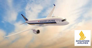 Singapore Airlines: Early bird promo fares fr $168 all-in return to over 55 destinations! Book by 31 Mar 2019