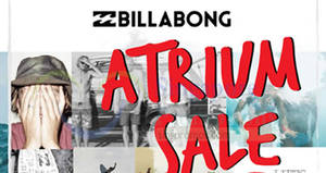Featured image for Billabong up to 70% off sale at Nex from 24 – 30 Mar 2017