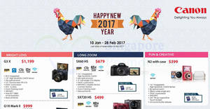 Featured image for Canon digital cameras & DSLR offers valid from 10 Jan – 28 Feb 2017