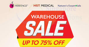 Featured image for HST Medical warehouse sale offers up to 75% off discounts from 11 – 13 Jan 2017