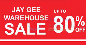 Featured image for Jay Gee (Dockers, Levi's Kids, Denizen, etc) warehouse sale offers discounts of up to 80% off from 10 – 15 Jan 2017