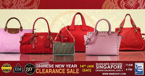 a7956140ad6a Nimeshop branded handbags sale offers up to 80% off at Mandarin Orchard on  14 Jan 2017