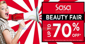 Featured image for Sasa up to 70% off beauty fair at Causeway Point from 31 Jul – 6 Aug 2017