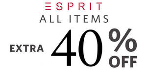 Esprit: FLASH sale – 40% OFF storewide at online store! Ends 13 Dec 2018