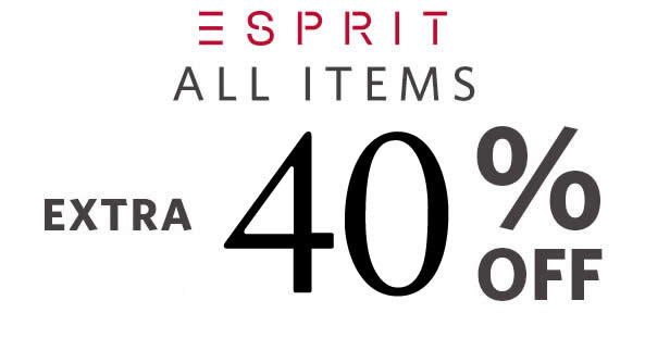 77ff66240de17 Esprit throws 40% OFF everything at online store for today only – 5 Sep  2017!