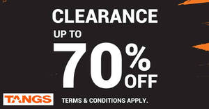 cce4c06ac75b80 TANGS clearance sale at Tang Plaza for a limited time from 30 Jan 2017