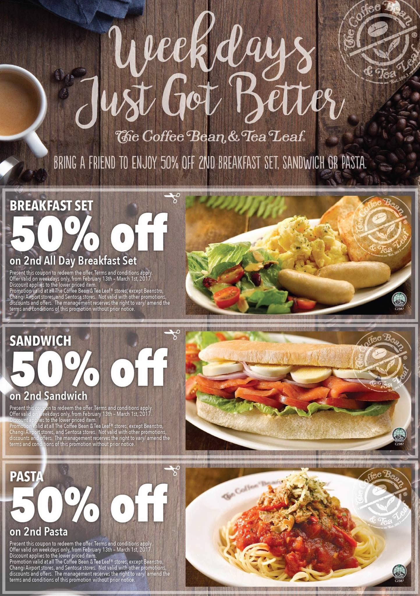 Coffee Bean & Tea Leaf coupon deals - Save 50% off the ...
