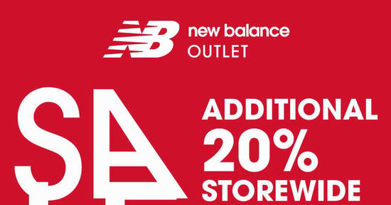 Featured image for New Balance throws 20% off storewide at all factory outlets from 17 - 19 Mar 2017